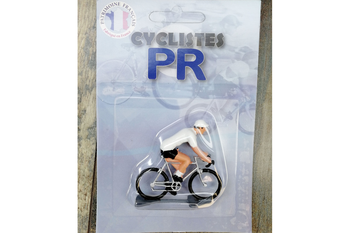 Roger Cyclist figurines - White jersey