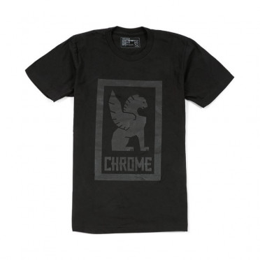 Chrome - Large Lock Up T-Shirt - Black