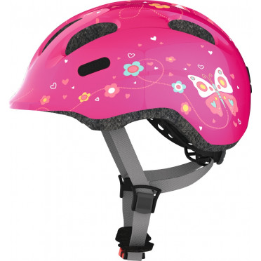ABUS - Smiley 2.0 Pink Butterfly - Kids Bike Helmet