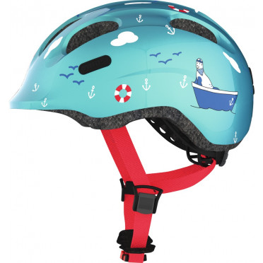 ABUS - Smiley 2.0 Turquoise Sailor - Kids Bike Helmet