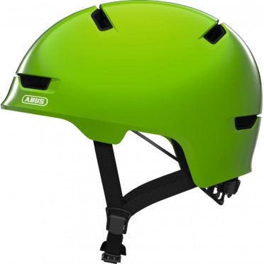 ABUS - Scraper 3.0 Shiny Green - Kids Bike Helmet