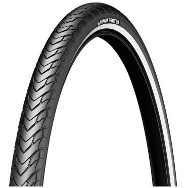 Michelin - 700 x 35C Protek Reinforced Hi Viz Stripe Bike Tire