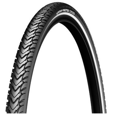 Michelin - 700 x 35C - Protek Cross Reinforced Hi Viz Stripe Bike Tire