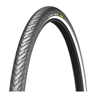 Michelin - 700 x 35C - Protek Max Reinforced Hi Viz Stripe Bike Tire