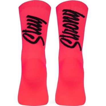 Pacific & Co - Stay strong - Coral - Cycling Socks
