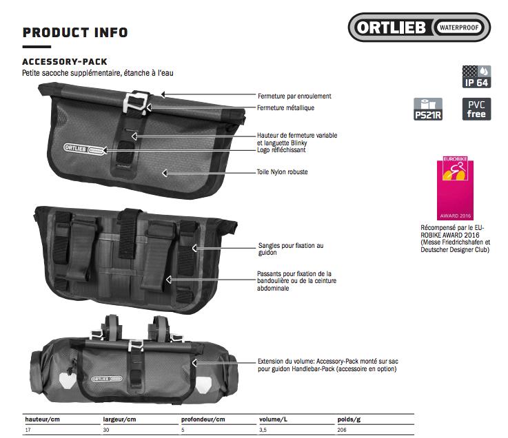 Ortlieb Accessory Pack 3 5l Black Matt